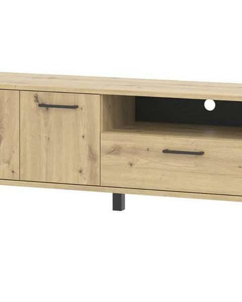 Sconto TV stolík SOFT LT1 dub artisan/čierna