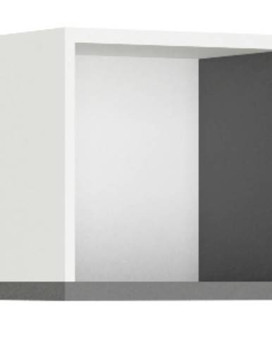 Nástenný regál PHILOSOPHY PH-12 biela/grafit